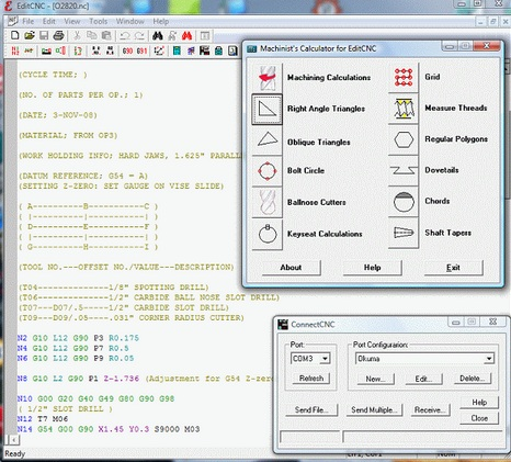 EditCNC G code Editor with DNC Free Download a Perfect Companion to