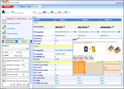 ITA Iscar Tool Advisor - Web-based Tool Selection for CNC Machinists
