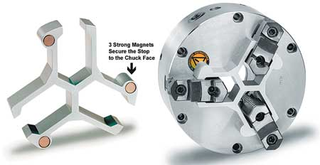 Chuck Stop for Easy Location of Short Parts in 3 Jaw Lathe Chuck