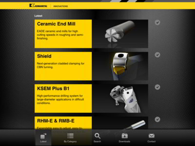 Kennametal Innovations iPad App