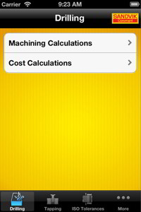 Sandvik Coromant Drilling Calculator App