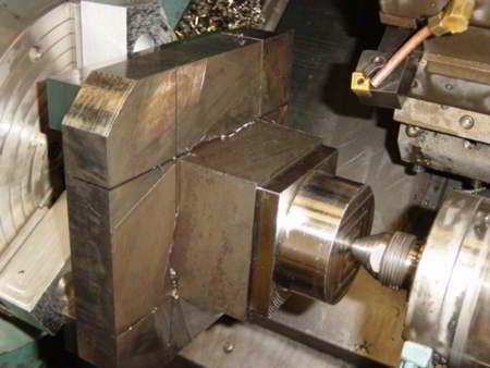 CNMG insert 100 degree edge usage through a DCBNL turning tool for roughing operation