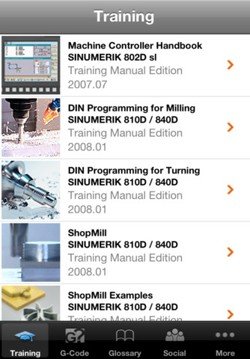 Siemens Easy CNC iPhone iPad App