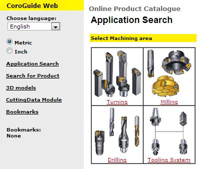Sandvik Coromant Online Catalogue