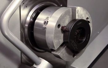 CNC Lathe Soft Jaws Cutting for ID Gripping - Video by Haas
