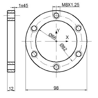 Fanuc G15 G16 Polar Coordinate Command Bolt Circle Program Example