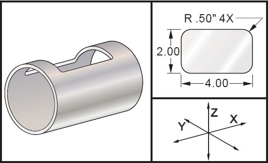 Haas Mill G107 Cylindrical Mapping Program Example