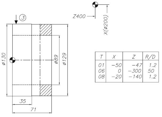 NUMS 322T CNC Program Example