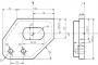 NUM CNC Mill Program Example with G45 Pocket Milling G81 G84 G87