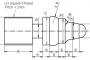 Fanuc G76 Left hand Thread G75 Grooving Example CNC Lathe
